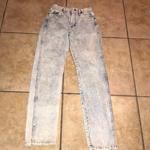 Vintage Wrangler Acid Wash High Waisted Mom Jeans